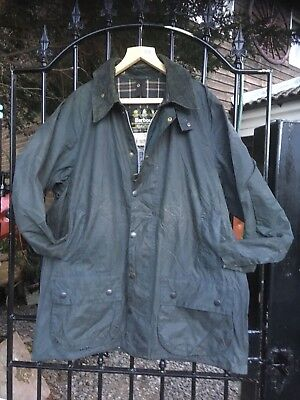 "Barbour A155 BEAUFORT blue wax Country Shooting Designer jacket size 46"" +"