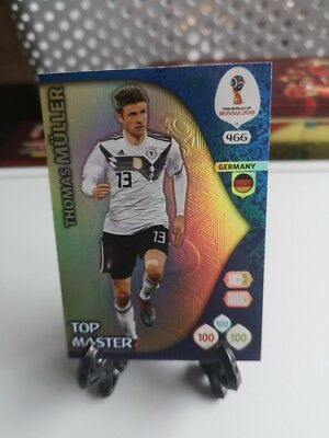 Panini adrenalyn xl world cup Russia 2018 top master n.466