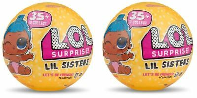2 Balls LIL Sister Surprise Lol Outrageous Littles Series 3 - Yellow
