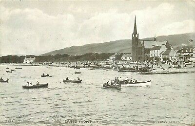 Largs From Pier ~ An Old Postcard #84514