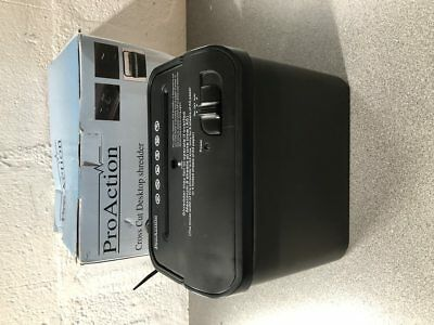 Proaction Cross Cut Desk Top  Paper Shredder Fully Working And Boxed