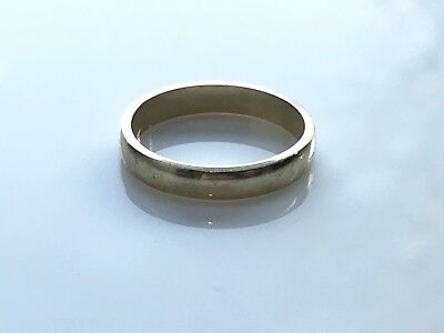 Vintage Solid 9ct Gold Unisex Wedding Band Ring 2.2g