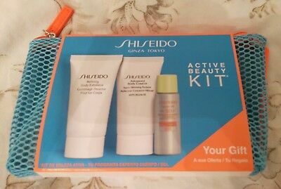 Shiseido Active Beauty Kit - 3 products - brand new and sealed