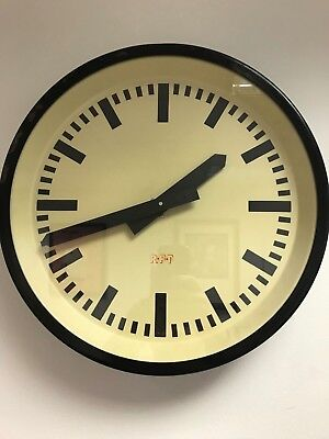 EAST GERMAN 1960s Eastern Bloc Midcentury Factory Retro Vintage Industrial Clock