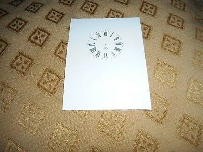 """Gilbert Carriage Clock Paper Dial-1 1/2"""" M/T- GLOSS WHITE- Parts/Spares"""