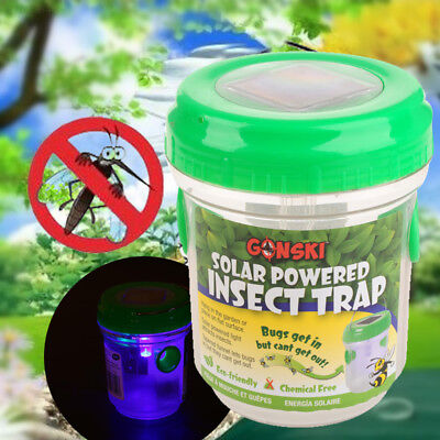 9B9E Portable Solar Mosquito Trap Repellent Lights Insect Control Indoor Outdoor