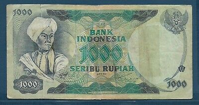 Indonesia 1000 Rupiah, 1975, VF tear/tape