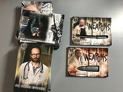 The Walking Dead Hunters and the Hunted Lot with Two Weapon Medallion Cards
