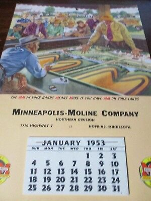 Minneapolis-Moline Dealer Calendar/Catalog 1953