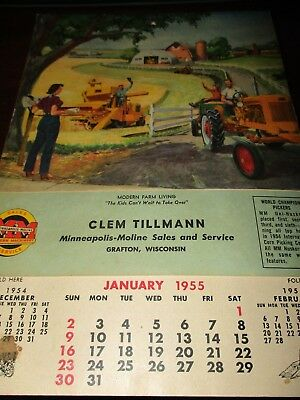 Minneapolis-Moline Dealer Calendar/Catalog 1955