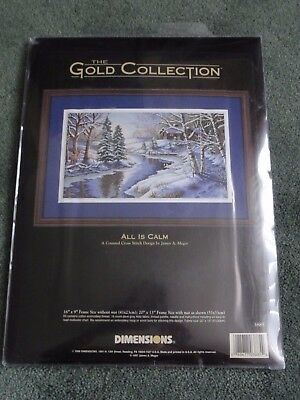 Dimensions Gold Collection Cross Stitch  Kit. All is Calm. New.