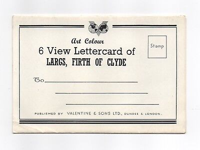 Lettercard Largs Firth of Clyde 6 view Valentine unposted art colour