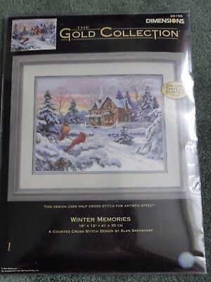 Dimensions Gold Collection Cross Stitch  Kit. Winter Memories. New.