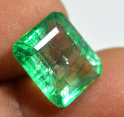 Natural 8.25 Ct.Emerald Shape Green Colombian Emerald Gems For Ring Use (NW_05)