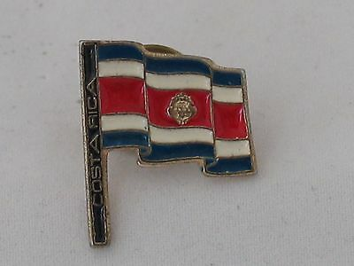 Vintage Unmarked  Costa Rica Flag Pinback/Lapel/Hat Pin