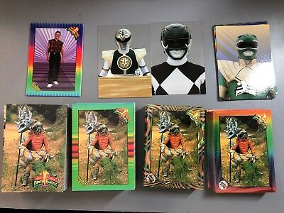 1994 Power Rangers Trading Cards - Complete Set of 72 (Two Versions) & More LOT