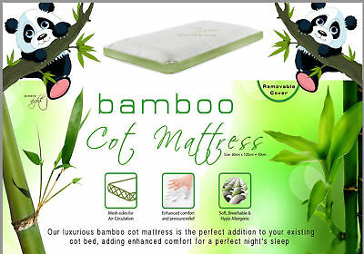Cot Bed Soft Mattress Bamboo Breathable Cover Foam Mattress Baby Toddler Pillows