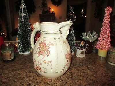 Antique Staffordshire Pitcher Outstanding Large Old North Wind Spout