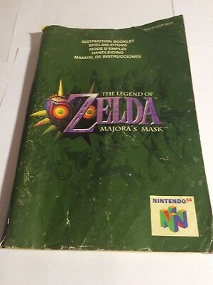 Nintendo 64 The Legend Of Zelda Majora'S Mask Instruction Booklet/manual Only