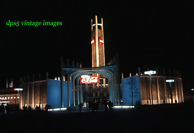 Vtg  --1964 NEW YORK WORLDS FAIR - COCA COLA TOWER AT NIGHT - Ektachrome
