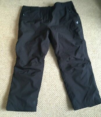 "Craghoppers Aquadry Black Waterproof Trousers Size 20 28"" Leg Cosy!"
