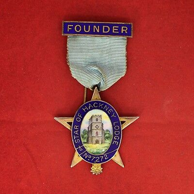 FOUNDER Silver Jewel, Star of Hackney Lodge № 7272