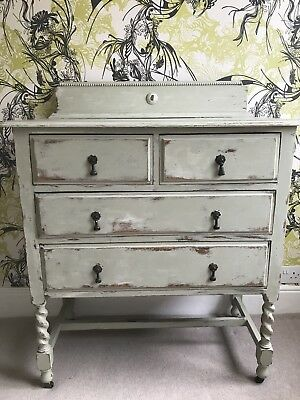 Beautiful Vintage chest of drawers. Distressed Style, Olive Green.