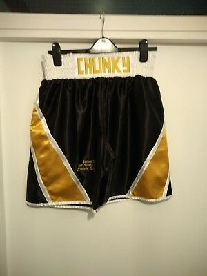 James DeGale Autographed Boxing Shorts