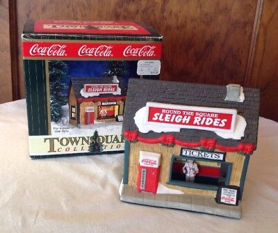 Coca-Cola Town Square Sleigh Ride House In Original Box