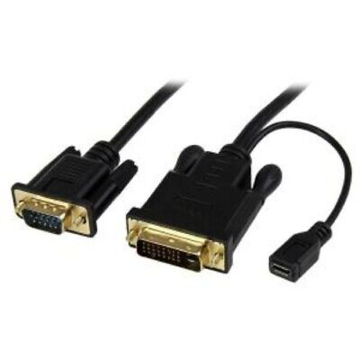 NEW STARTECH DVI2VGAMM3 3FT DVI-D TO VGA ADAPTER CONVERTER CABLE.b.