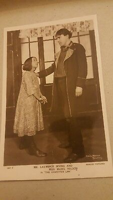 Vintage Postcard Actors and Actresses Laurence Irving and Mabel Nelson