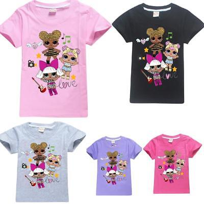 Lol Surprise Dolls Game Kid T-shirts Top Outfit Costume tshirts 100% Cotton UK