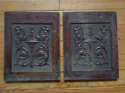 2 Antique Fancy Wood Piano ? Furniture ? Panel Barn Find Salvage Architectural