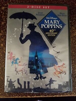 Disney Dvd-Mary Poppins-2 Disc Set-40Th Anniversary Edition