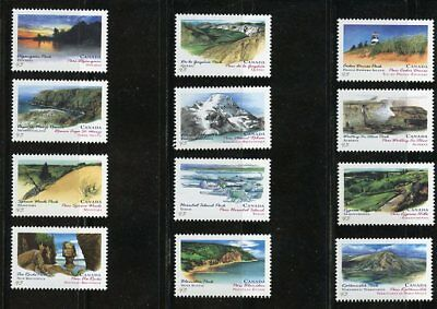 Canada Sc# 1472-1483 Provincial/territorial Parks, Great Condition Mnh Vf Stamps