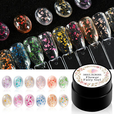 Hot 5ml Flower Fairy Gel Nail Polish Natural Dried UV/LED Gel Manicure 12 Colors