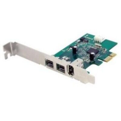 NEW STARTECH PEX1394B3 3 PORT 2B 1A PCI EXPRESS FIREWIRE CARD.b.