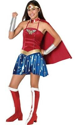 Licensed Wonder Woman Teen Super Hero Girls Fancy Dress Halloween Costume