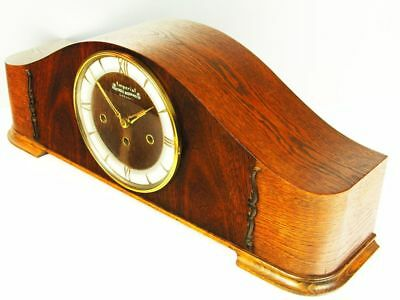 Pure Art Deco Westminster Chiming Mantel Clock From Imperial