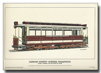 LCC Tramways Type F Subway Car 552 - 567 Kingsway subway Aldwych framed print