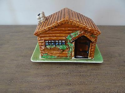 Vintage Butter Dish Cottage Theme Lid Nice Detail