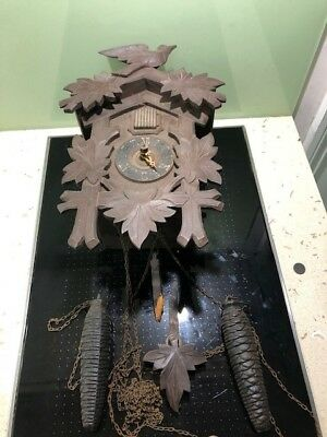 ANTIQUE BLACK FOREST CUCKOO CLOCK repair restoration