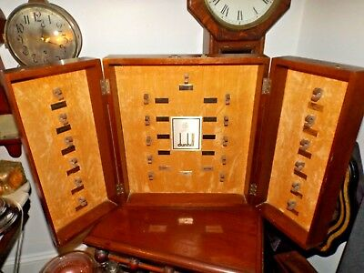 RARE Vintage Albert Dunhill of London Pipe Salesman's Store Sample Display Case