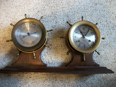 Made by Schatz for Bulova Ships bell clock and Barometer