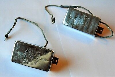 Ibanez Super 80 Humbucker Pickup Set with Flying Fingers Covers (Chrome)