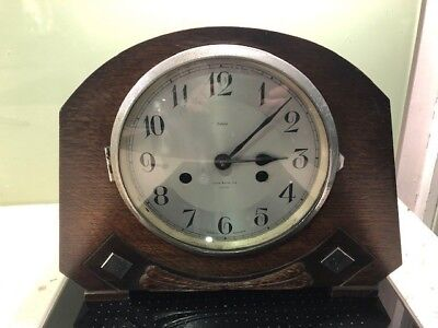 Antique Wooden Enfield mantel clock  ; James Walker Ltd London