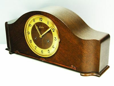 Beautiful Art Deco Design Chiming Mantel Clock From Junghans  Germany