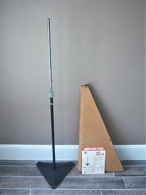 Vintage RARE 1980's MS-50 Atlas microphone floor stand old w box and data sheet