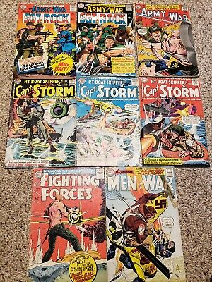 8 Comic Silver DC lot, Capt Storm, Our Army at War, Men Of War, Our F. Forces