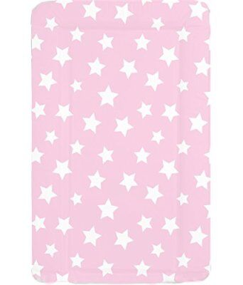 Deluxe Unisex Baby Waterproof Wipeable Changing Mat with Raised Edges - Pink
